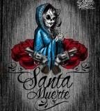 Santa Muerte Aztoon Tattoo Design