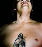 Santa Muerte Chest Tattoo for Men