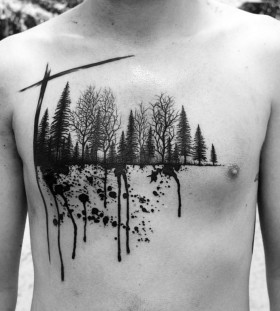 scenery-chest-tattoo-by-marian-m-m