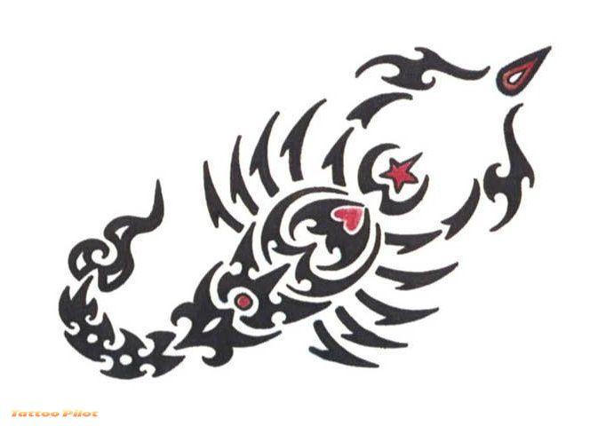 Cool Scorpio Tattoo Sample Design