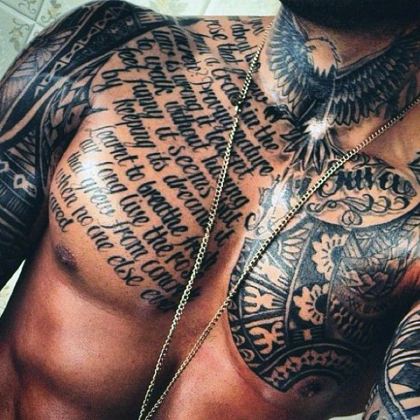 script tattoos for men