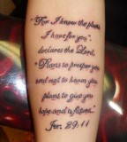 Full Scripture Tattoo on Hand for Girls