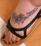 Sweet File Scripture Tattoos On Feet for Girls