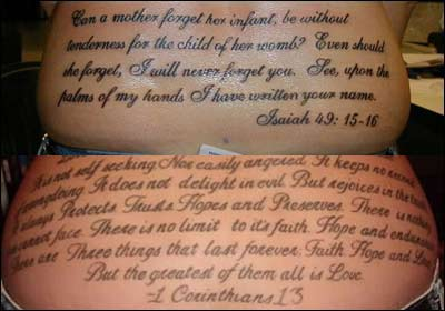 Literary Scripture Tattoos for Girls