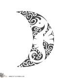 Moon Seahorse Black / White Polynesian Design
