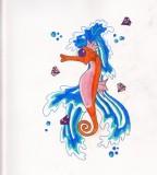 Pink Seahorse Tattoo Ideas
