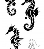 Tattoos Meaning Strength - Seahorse Tattoo Design