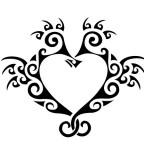 Seahorse Tattoo Heart Design