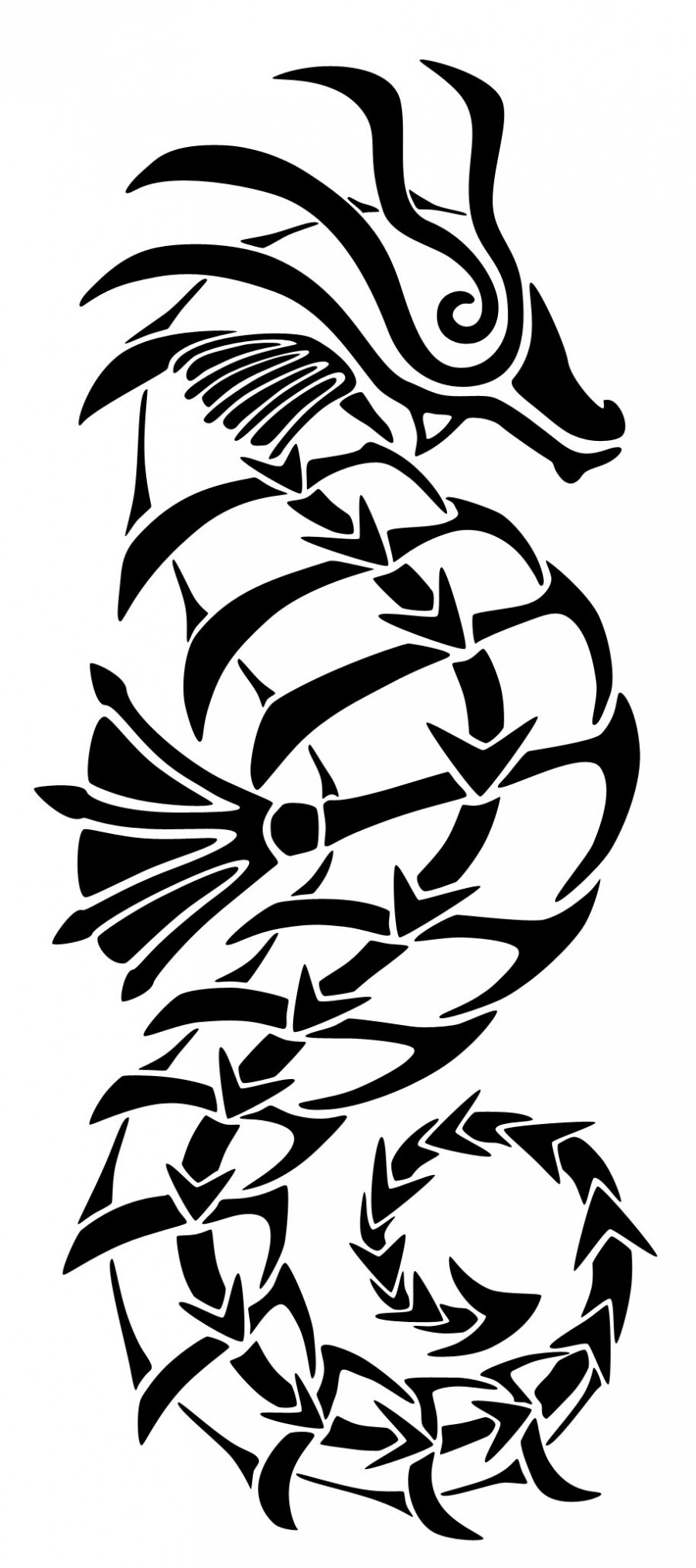 659a47074 Tribal Tattoo Seahorse Ideas - | TattooMagz › Tattoo Designs / Ink ...