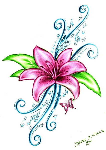 September Birth Flower Tattoos Design
