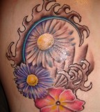 Aster Blossom Tattoo September Birth Flower Tattoos