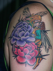 September Birth Anemone Flower Tattoo for Man and Woman