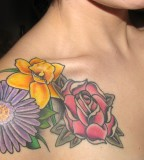 Exotic September Birth Flower Tattoo