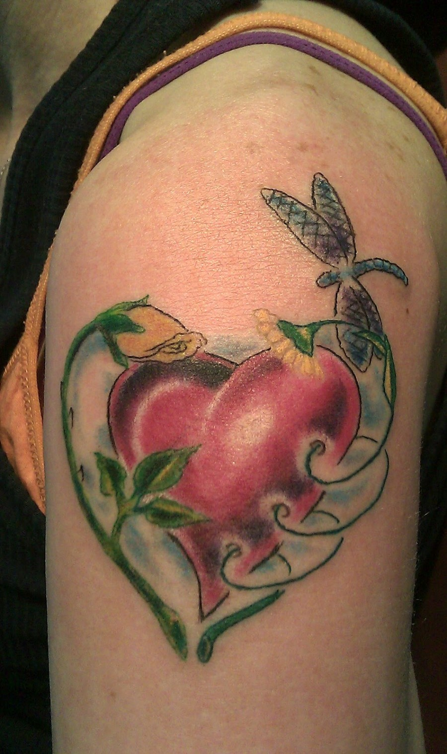 September Birth Flower Tattoos Shoulder for Men and Woman