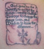 Serenity Prayer Posters As Tattoo Design