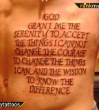 Serenity Prayer Religious Tattoo