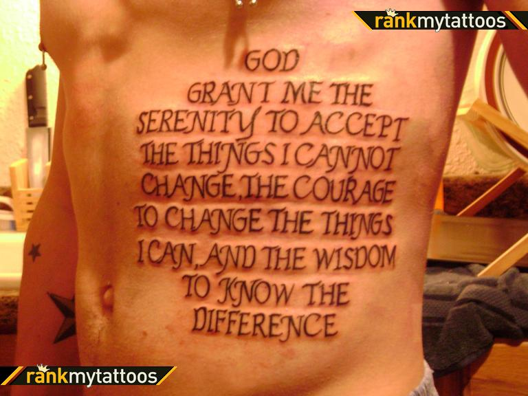 Serenity Prayer Religious Tattoo