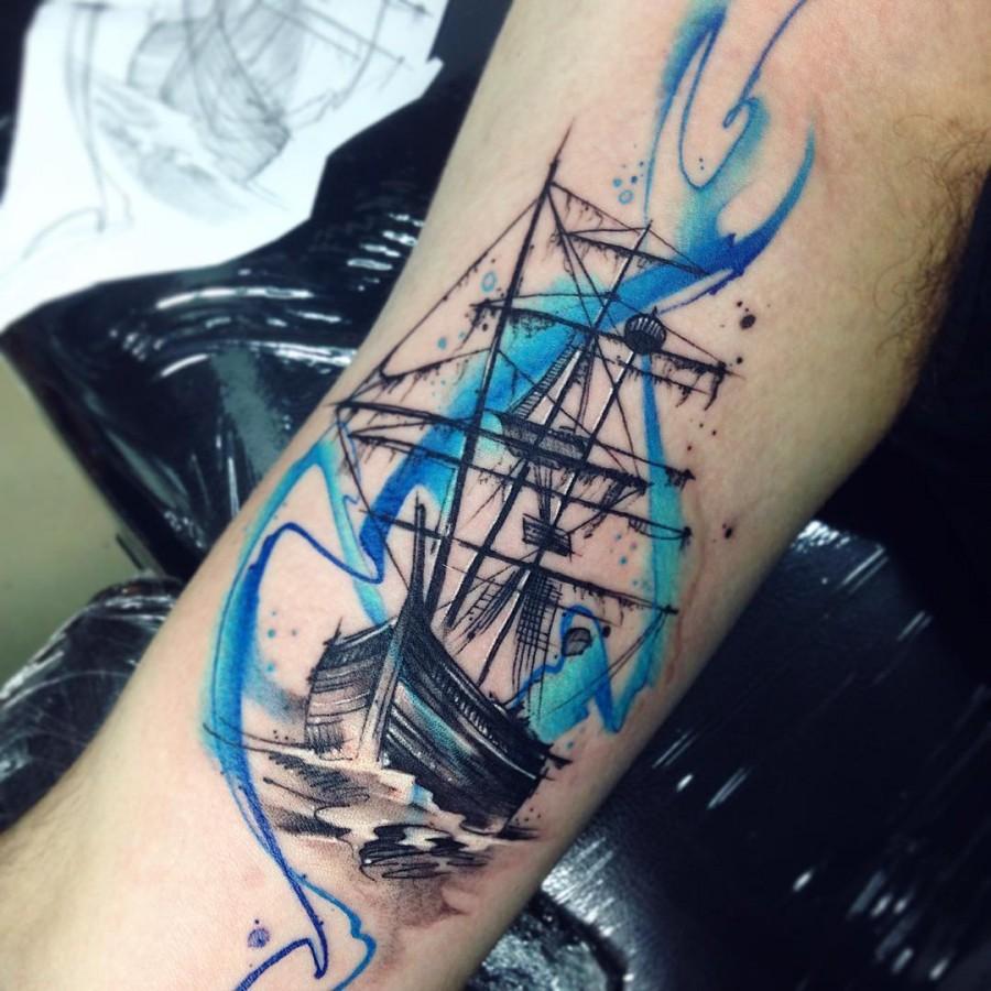 ship-watercolor-tattoo