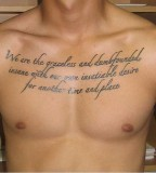 Perfect Quotes Tattoos For Man