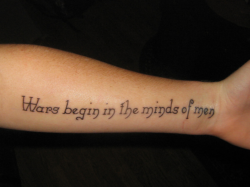 Short Quotes Tattoos About War