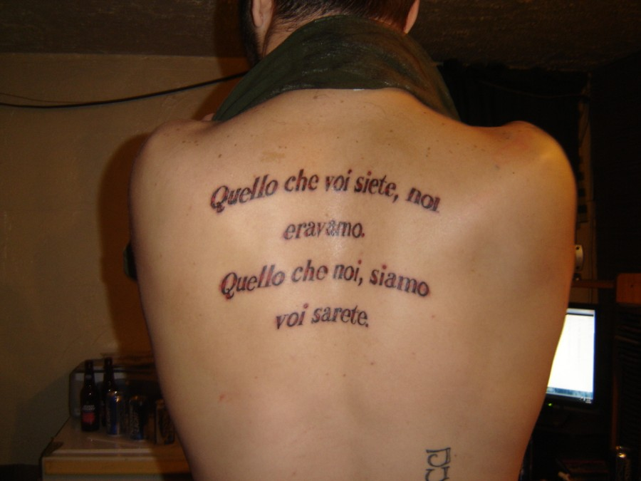Italian Tattoo About Identity Quotes