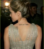 Angelina Jolie Sexy Tattoo Design on Back