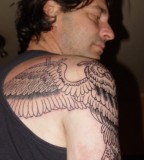Back Shoulder Wings Tattoo Designs for Men