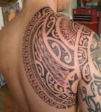 Awesome Celtic Shoulder Blade Tattoo Design