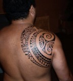 Shoulder Blade Polynesian Tattoo Design By Patu Mamatui
