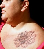 Beautiful Hawaiian Flower Tattoos on Front Shoulder - Flower Tattoos