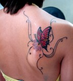 Colorful Swirly Butterfly Tattoo Designs for Women - Butterfly Tattoos