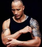 The Rock's Half-Sleve Polynesian Tribal Tattoo Design - Tattoos for Men