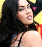 Megan Fox's Back / Shoulder-blade Tattoos Design Ideas - Celebrity Tattoos