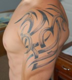 Tribal Shoulder Tattoo Art for Men