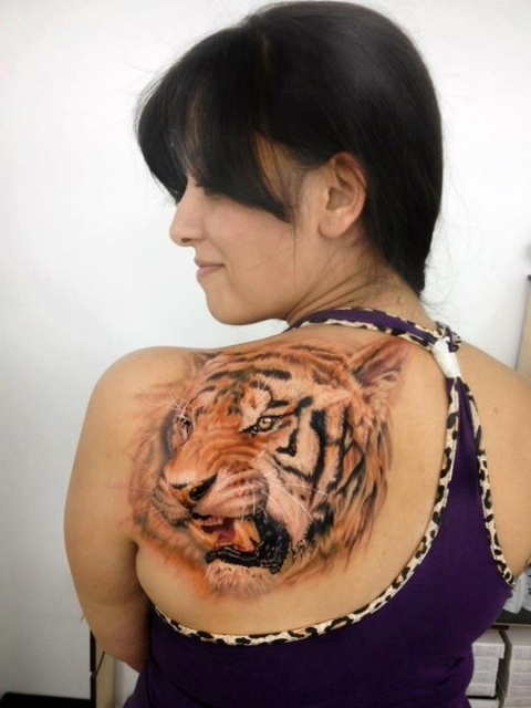 Amazing Shoulder Tiger Tattoo Designs And Ideas – Tattoos for Women