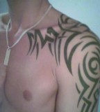 Amazing Tribal Shoulder Tattoo For Men