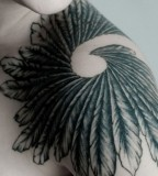 Feather Tattoos - Shoulder Tattoo Design For Men