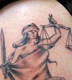 Justice Tattoos Picture - Shoulder Tattoo