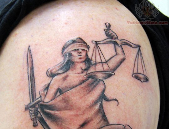 Justice Tattoos Picture – Shoulder Tattoo
