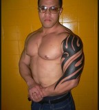 Good Looking Tribal Shoulder Tattoo For Man