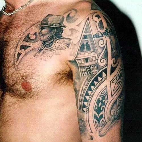 Shoulder Tattoos For Men – Polynesian Style Tattoo