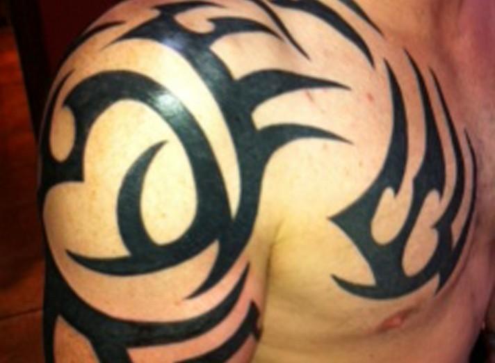 Shoulder Tribal Tattoos For Men