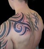 Arm / Shoulder / Upper Back Tattoo Design For Men