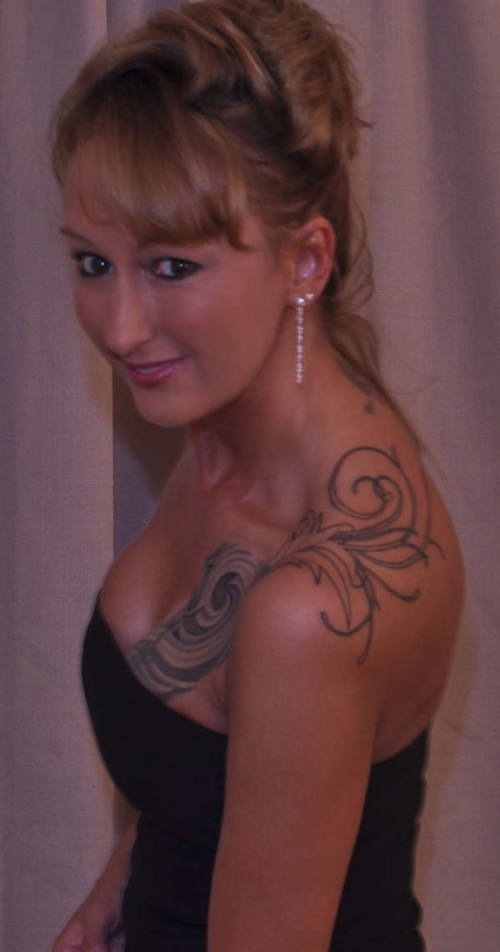 Over The Great Shoulder Tattoos For Women