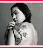 Big Rose Tattoos For Women On Shoulder