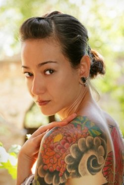 Chrysanthemum Shoulder Tattoos for Woman