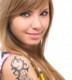 Tribal Shoulder Tattoo Designs For Girls