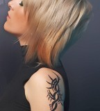 Tribal Shoulder Tattoo and Fashion for Woman