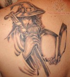 Back Shoulder Wizard Tattoos