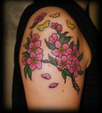 Cherryblossom Shoulder Tattoo for Girl